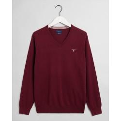 Gant Pullover V-Neck, bordeaux
