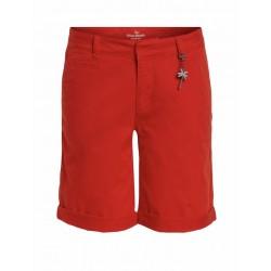 Oui Shorts, rot und weiß